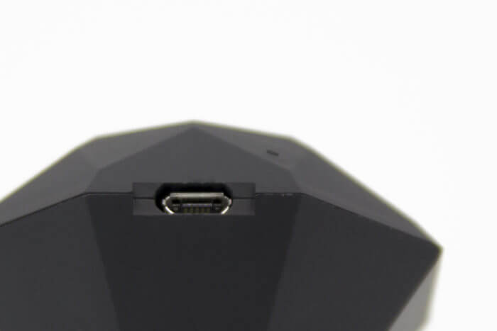 The charging port for the Nix Pro is shown